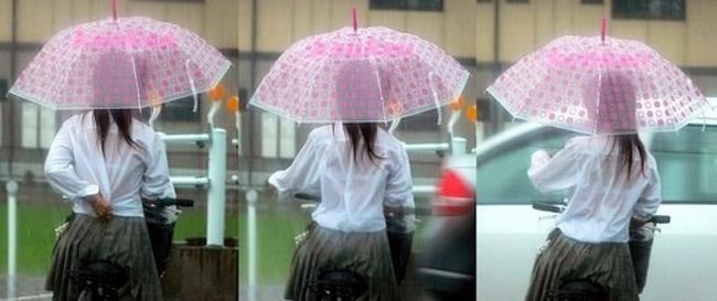 【おっぱい】突然の雨や汗で制服ブラウスが濡れ透け状態になってる素人JK達のおっぱい盗撮画像がが初々しくてエロくて・・【80枚】 18
