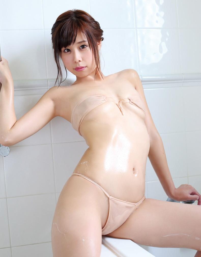 【おっぱい】びしょ濡れになるとほぼ全裸状態!肌色水着・湯葉水着のおっぱい画像集ww【80枚】 31