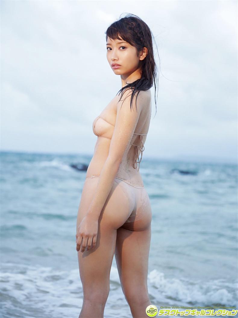 【おっぱい】びしょ濡れになるとほぼ全裸状態!肌色水着・湯葉水着のおっぱい画像集ww【80枚】 36