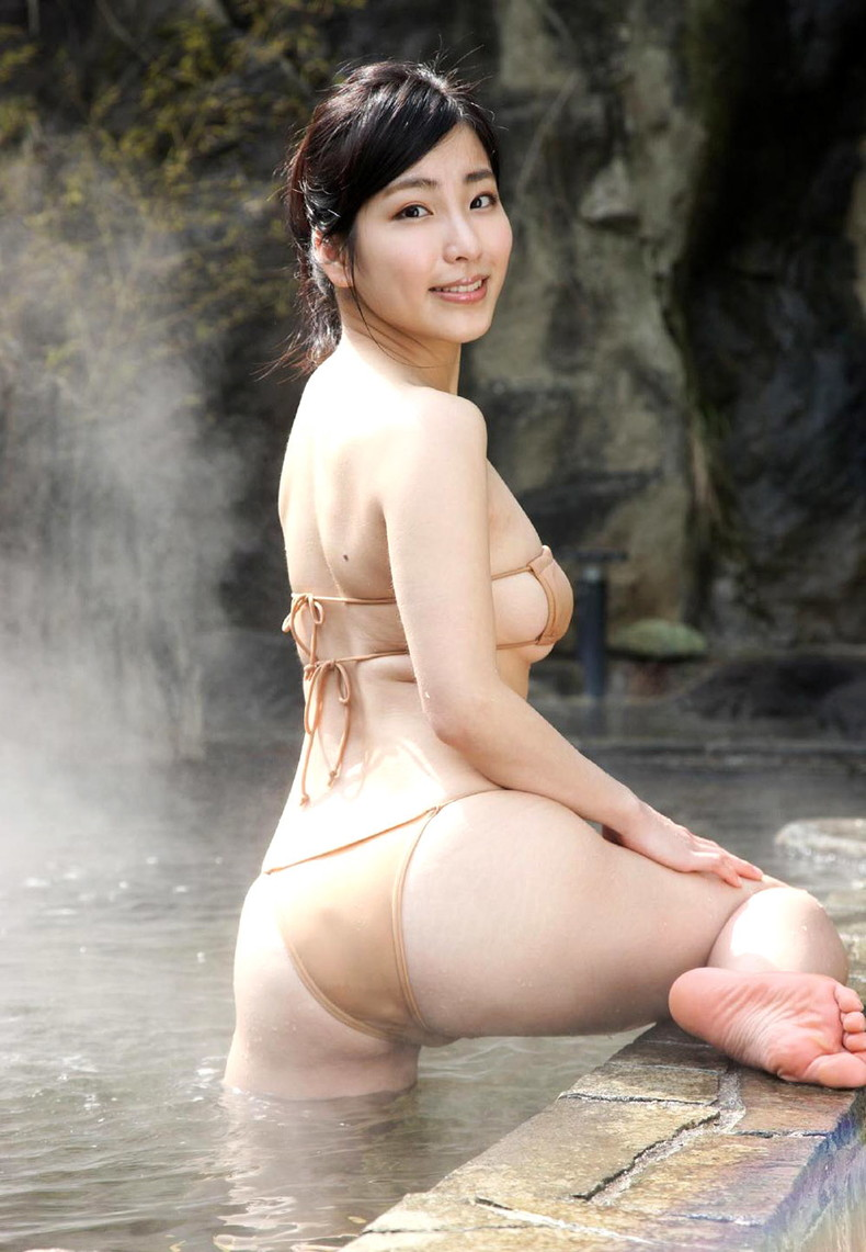 【おっぱい】びしょ濡れになるとほぼ全裸状態!肌色水着・湯葉水着のおっぱい画像集ww【80枚】 64