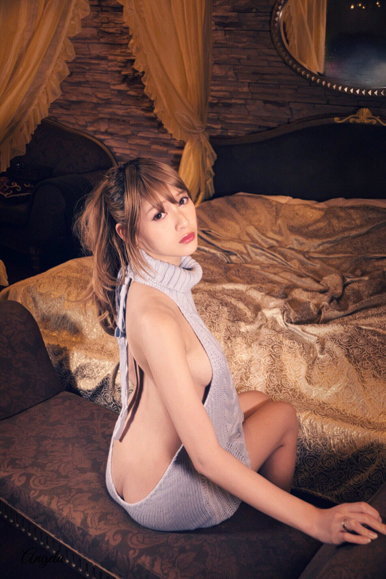【おっぱい】デカパイ美女が横乳丸見えのニットワンピで童貞は即射精!童貞を殺すセーターのおっぱい画像集ww【80枚】 22