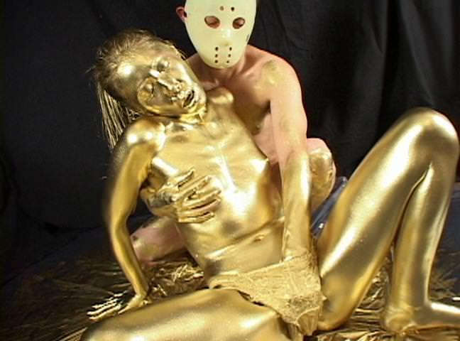 【おっぱい】金粉銀粉塗られて神々しくなってる黒ギャルならぬ金銀ギャルたちの金粉おっぱい画像集【80枚】 41