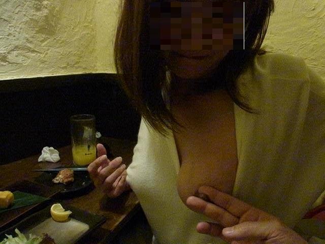 【おっぱい】泥酔し調子に乗って店内で乳首露出して寝取られちゃったww居酒屋おっぱい画像集【80枚】 21