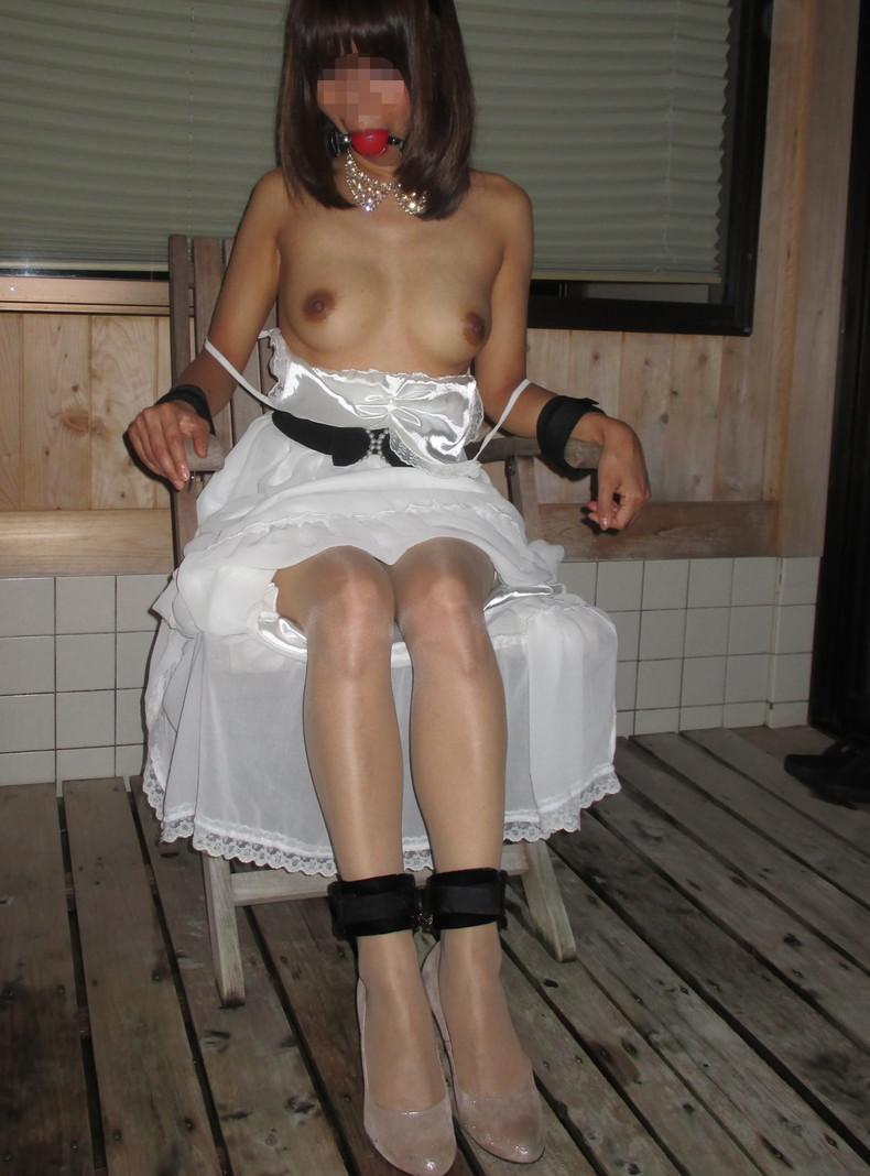【おっぱい】SMアイテムであるボールギャグを装着させられ乳首勃起状態のドMなお姉さんたちのボールギャグおっぱい画像集w【80枚】 05