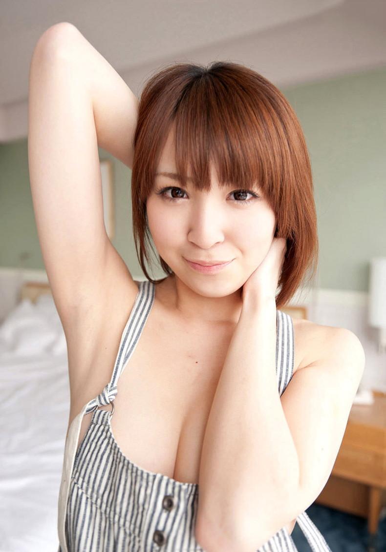 【おっぱい】ナマ乳オーバーオールとかいう裸エプロンに匹敵するエロアイテムを着こなす美巨乳女子のオーバーオールおっぱい画像集【80枚】 17