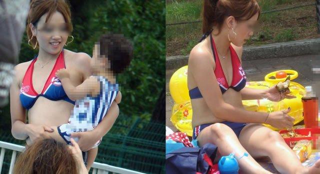 【おっぱい】赤ちゃん連れて気を取られて胸チラさせてたり子供に授乳させてる子連れ人妻のおっぱい画像集【80枚】 19