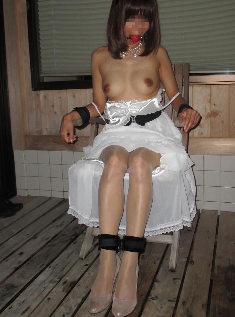 【おっぱい】披露宴当日に寝取られこの先が思いやられる若妻達のウエディングドレスおっぱい画像集【100枚】 77