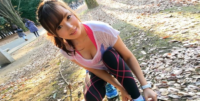 【おっぱい】ジョギングしてて乳首が透けたりおっぱいがエロいことになってる巨乳娘とすれ違い僕はUターンして尾行した【80枚】 05