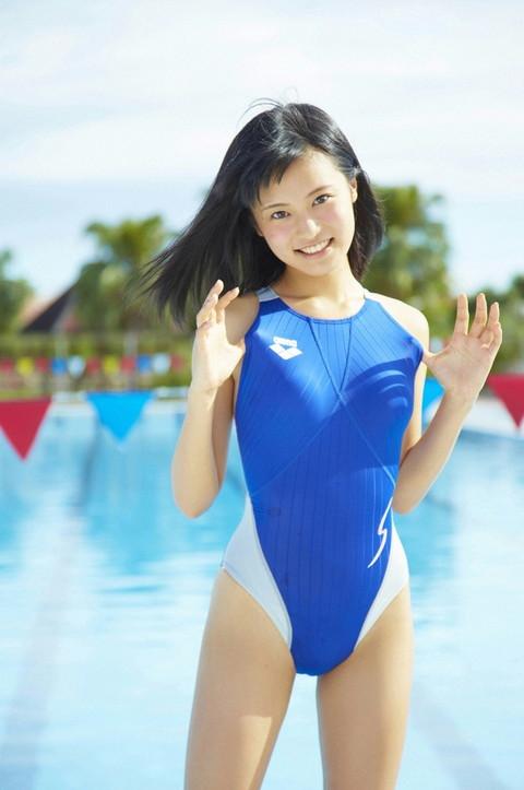 【おっぱい】ロリなちっぱいや発育良すぎる巨乳がぴったりくっつくスクール水着が大好きすぎるスク水おっぱい画像集【80枚】 11