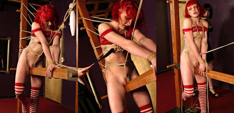 【おっぱい】三角木馬という超絶痛い拷問器具でチクビ勃起させて悶絶しちゃってるM女の三角木馬おっぱい画像集【80枚】 59