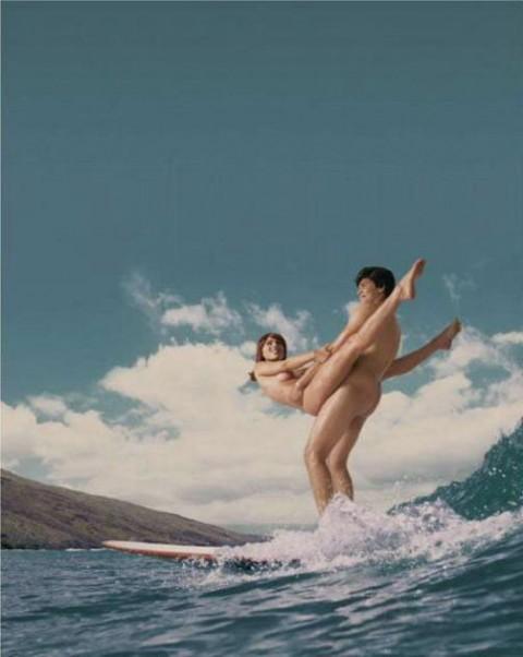 【おっぱい】露出狂状態で波乗りを愉しんじゃってる女子サーファーのおっぱい画像集【80枚】 68