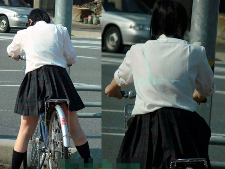 【おっぱい】透けブラしてるOLさんや制服JK、若妻たちを尾行しながら盗撮したった透けブラおっぱい画像集!ww【80枚】 11