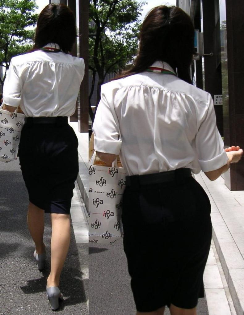 【おっぱい】透けブラしてるOLさんや制服JK、若妻たちを尾行しながら盗撮したった透けブラおっぱい画像集!ww【80枚】 51