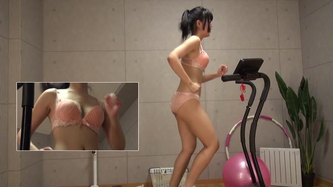【おっぱい】汗だくになりながらも全裸でランニングし続けてくれちゃう素人の女の子たちのおっぱい画像がエロすぎる!【30枚】 14