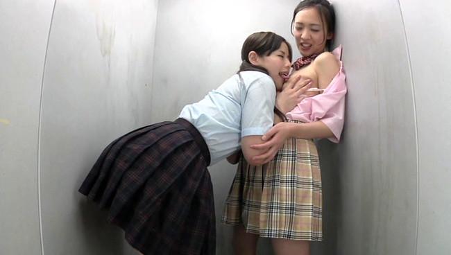 【おっぱい】濃厚なキスから始まり、おっぱいを愛撫しながらパンティを濡らす…レズビアンな女子校生たちのおっぱい画像がエロすぎる!【30枚】 19
