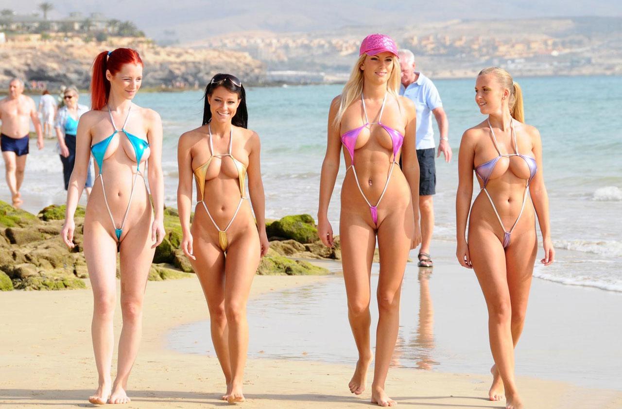 【おっぱい】ド変態と思い切って罵ってやりたい変態水着の女性たちwww【33枚】 27