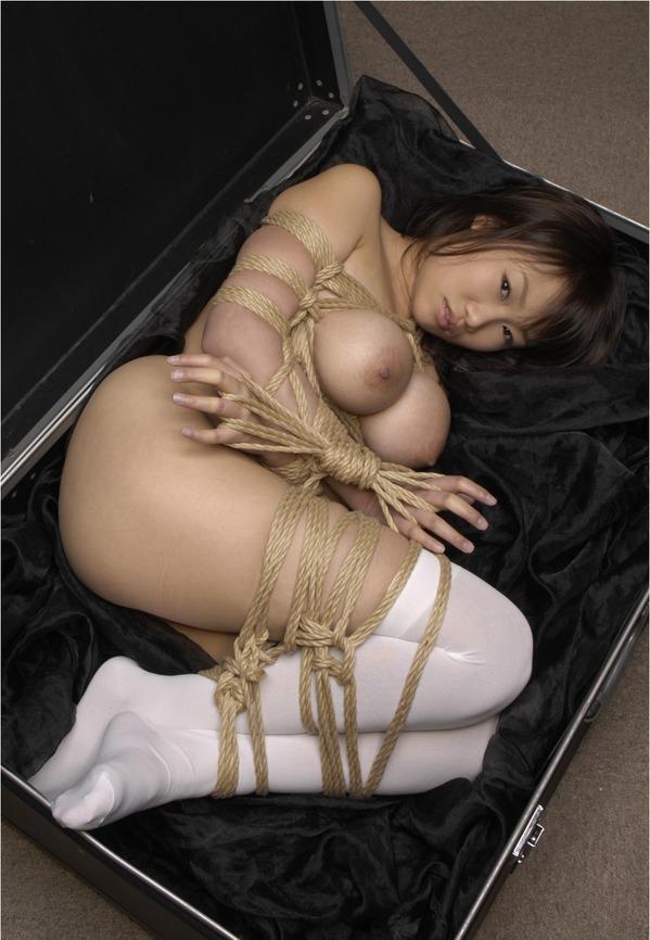 【おっぱい】ガッツリ緊縛されている女性の抵抗できない儚いおっぱい!【62枚】 21