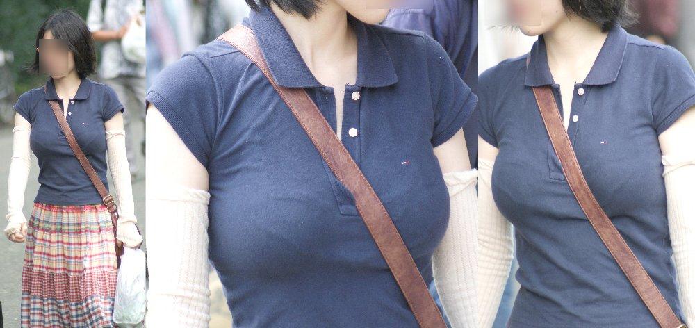 【おっぱい】服の上からでもわかってしまう巨乳な素人さんの街撮り画像【39枚】