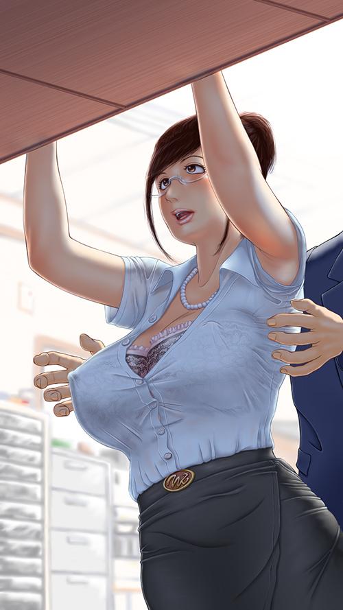 【おっぱい】人妻や年上をイラストで表現するとどうして巨乳になってしまうんだろう?【39枚】 14