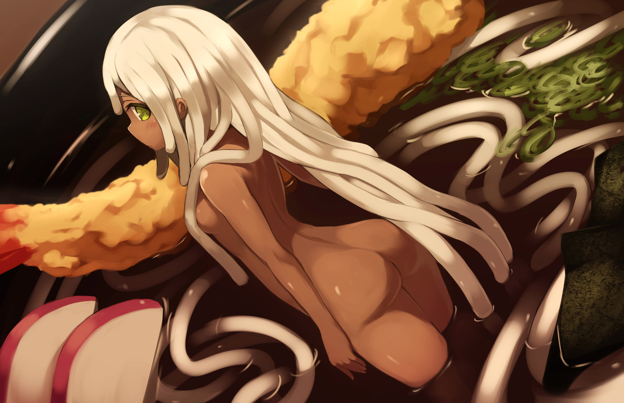 【おっぱい】リアルの女体盛りは絵が強すぎるからイラストで雰囲気を探ろう!w【39枚】 04
