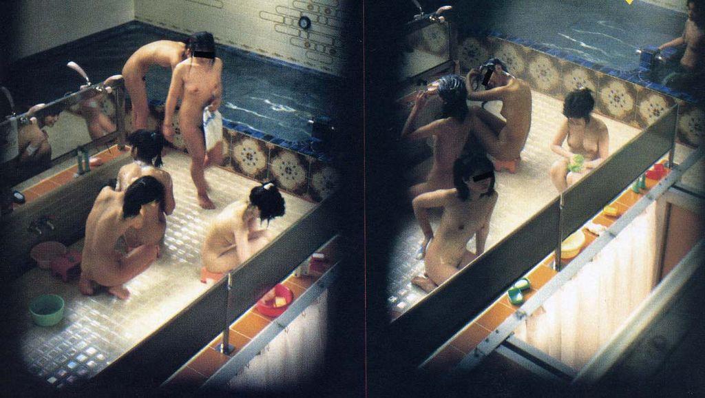 【おっぱい】男の目がないと思って素でお風呂を楽しんでいる素人さんたちwww【30枚】 11