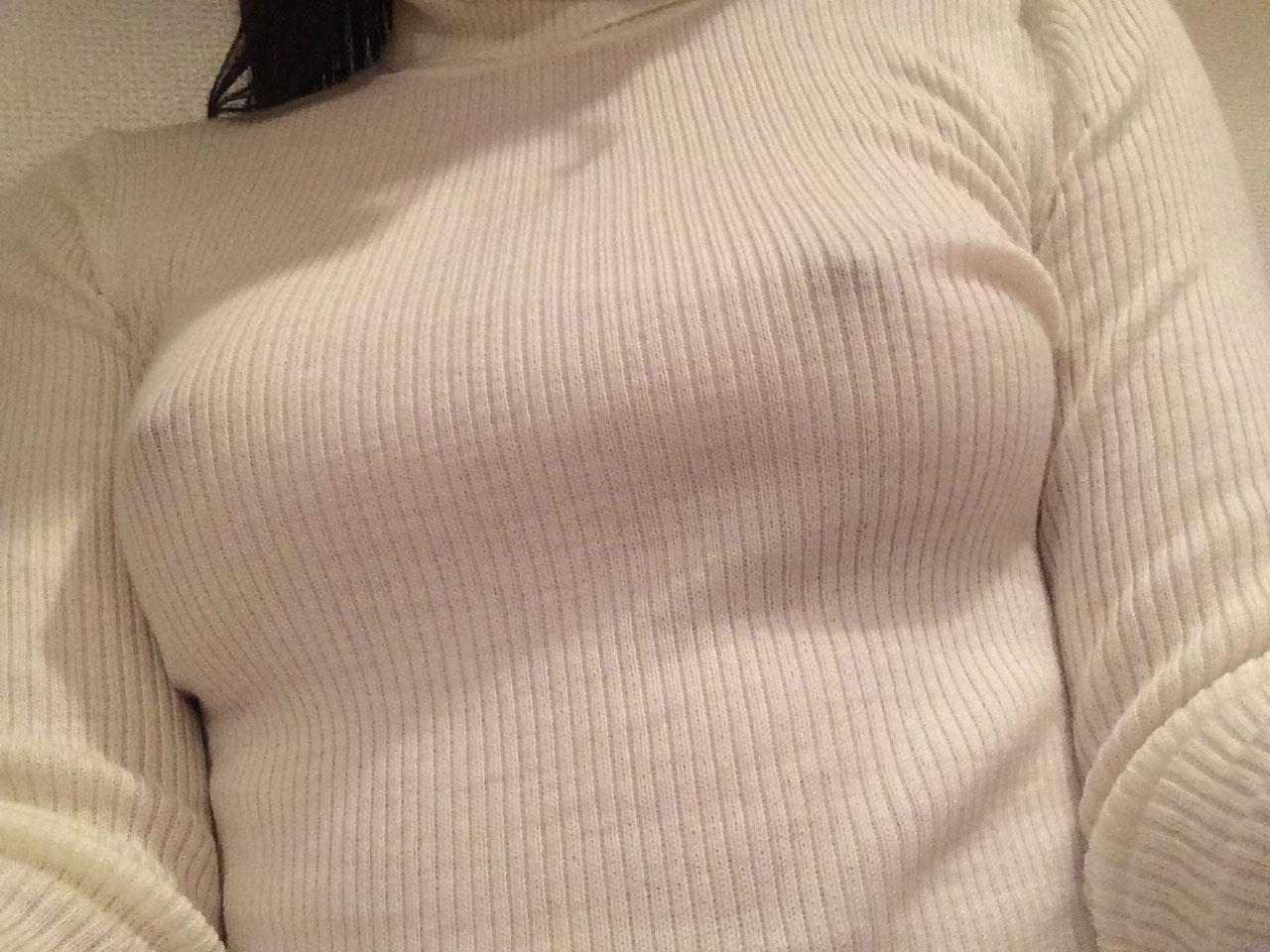 【おっぱい】ブラなしで乳首が立ってしまうとポチるのは当然でしたwww【31枚】 28