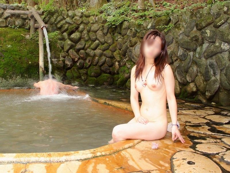 【おっぱい】露出スポットに悩んでいる素人さんが行き着くところ、それが温泉www【30枚】 11