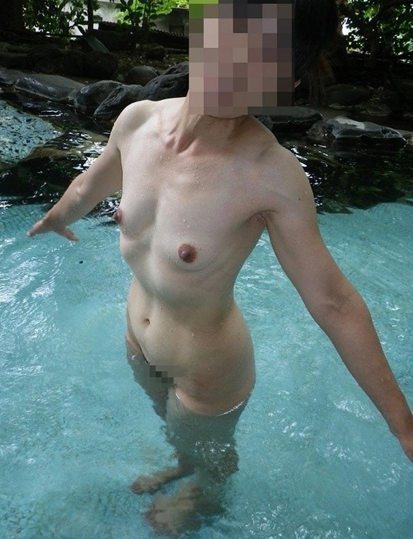 【おっぱい】露出スポットに悩んでいる素人さんが行き着くところ、それが温泉www【30枚】 28