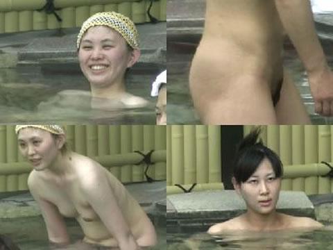 【おっぱい】露天風呂でリラックスしているところをこっそり撮影するなんてけしからん!【30枚】 18